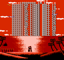"100-in-1 Contra Function 16  <span title=""A ROM image which has been corrupted because the original game is very old, because of a faulty dumper (bad connection) or during its upload to a release server. These ROMs often have graphic errors or sometimes don't work at all."" class=""label"">Bad dump 1</span> <span title=""A dump of a pirated version of a game. These ROMs often have their copyright messages or company names removed or corrupted."" class=""label"">Pirated version 1</span>  - Screenshot 2/5"